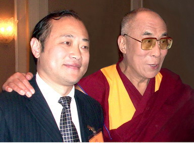 Chairman Wang, Jun and Dalai Lama in Waldof Hotel in New York