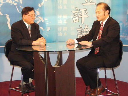 Anchor from New Tangren TV Station Interviewed Famous Chinese Democrat Wang, Jun